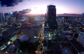 downtown orlando aerial photo